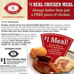 Boston Market – $1 Chicken Meal