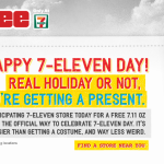 Free Slurpee Day – Happy 7-Eleven