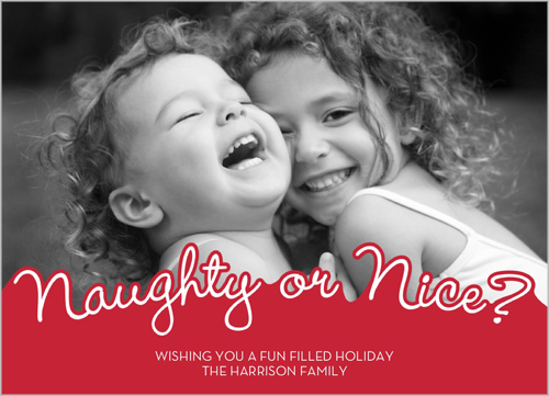 Naughty or Nice Shutterfly design