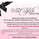 The Most Stylish Time of the Year – AOL December Giveaways