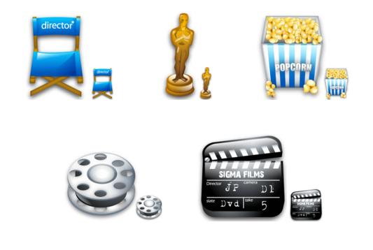 Movie theme icons