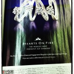 diamond rings on magazine with QR code