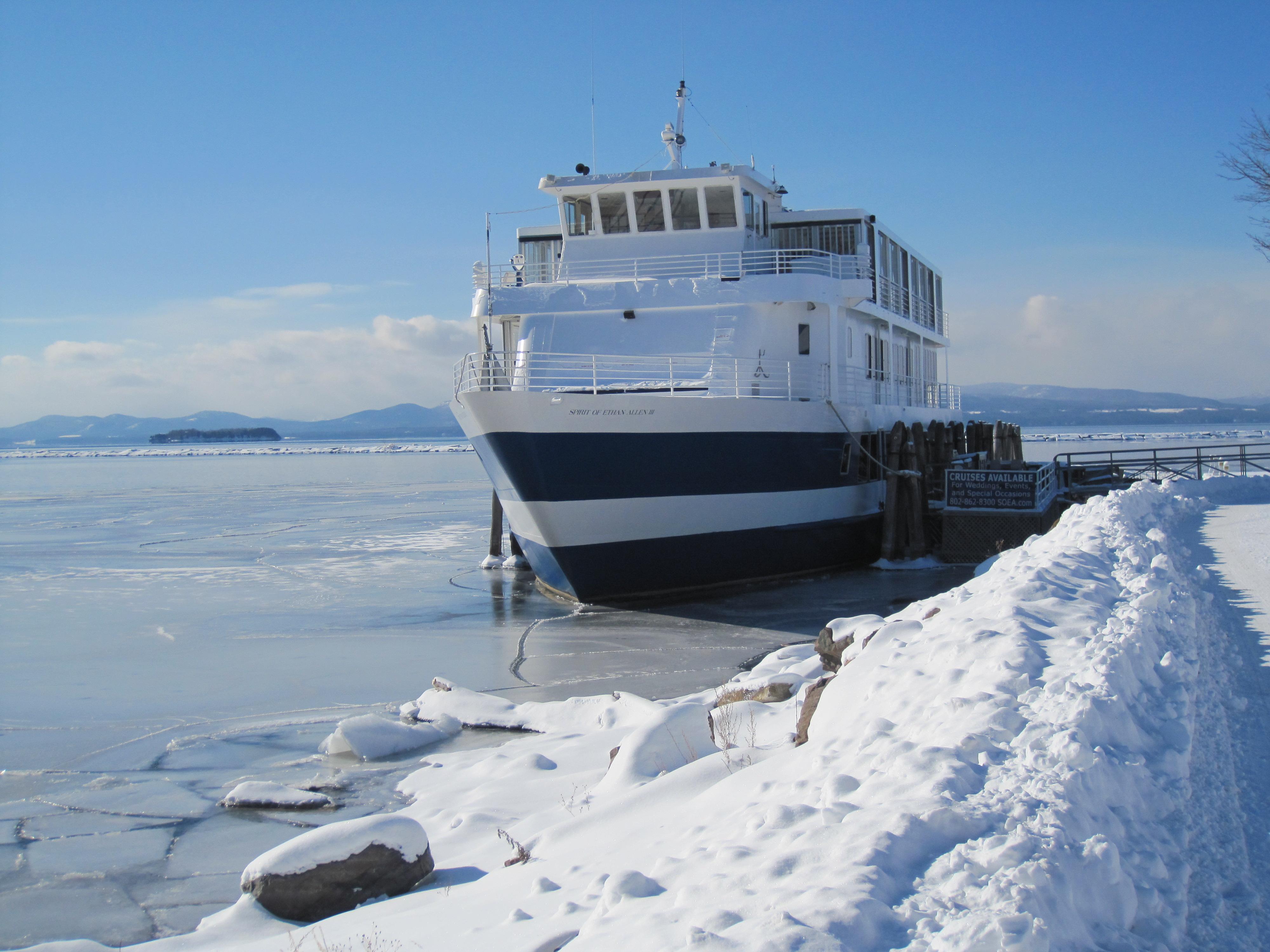Lake Champlain Frozen