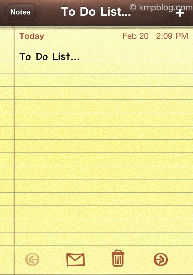 iphone notepad app