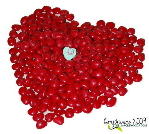 Valentine's Day red candy heart