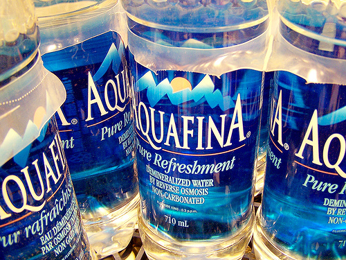 Aquafina water bottles