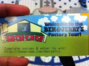 Ben & Jerry Factory Tour