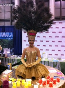 Miss Jamaica at the Travel Show