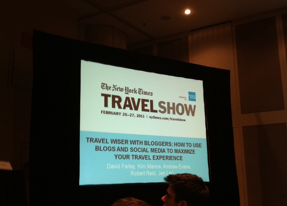 Travel Show Blogger seminar