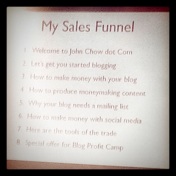 John Chow's Sales Funnel