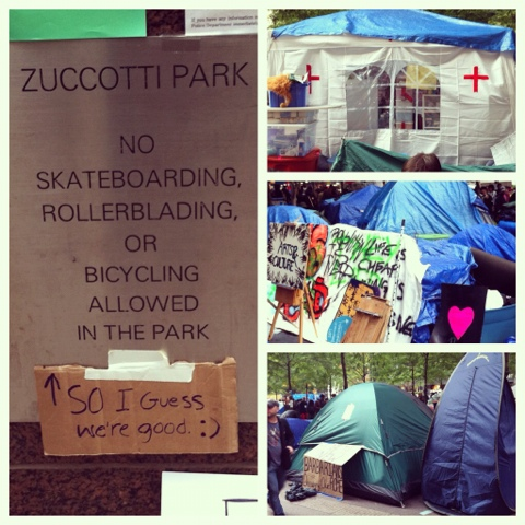 Zuccotti Park Tents
