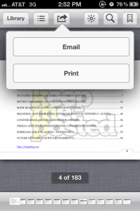 email or print ibook option