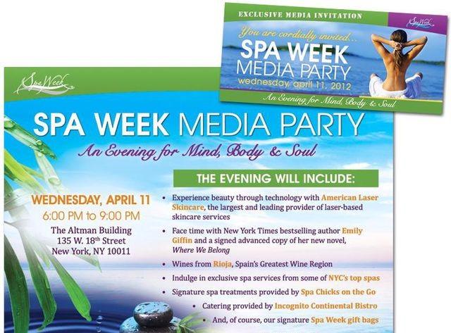 SpaWeek Media Event - Spr. 2012