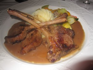Lamb Chops at Sir Andrews at Riu Negril