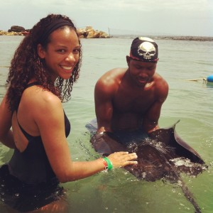Stingray at the Dolphin Cove, Negril, Jamaica