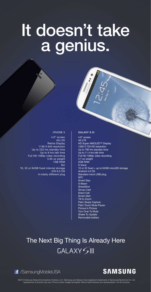 Samsung iphone 5 ad