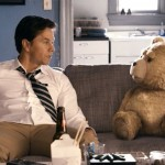 Mark Wahlberg and Ted (Seth MacFarlane)