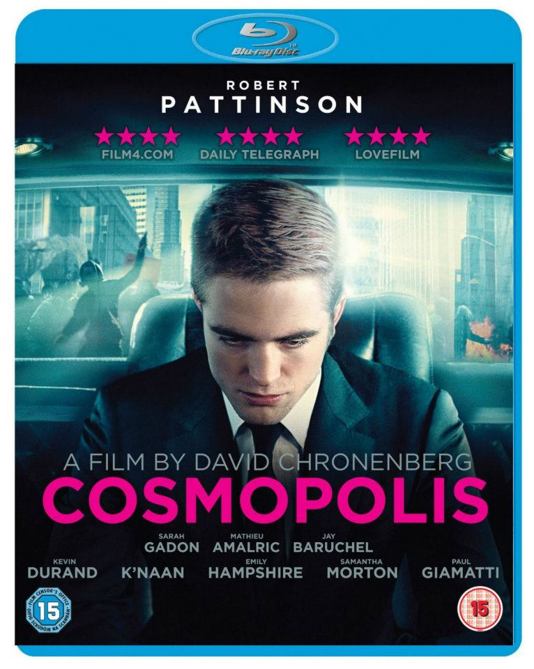 Cosmopolis blu-ray/dvd cover