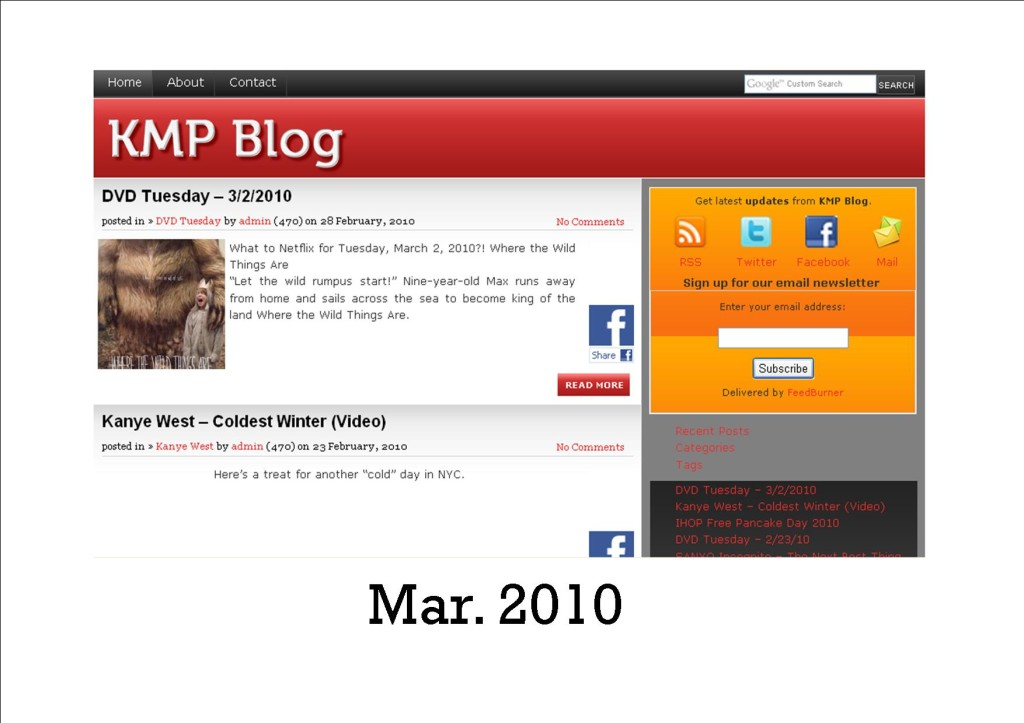 KMP March 2010