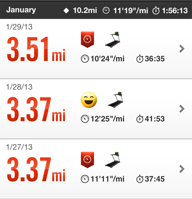 Nike+ Running 3 mile run