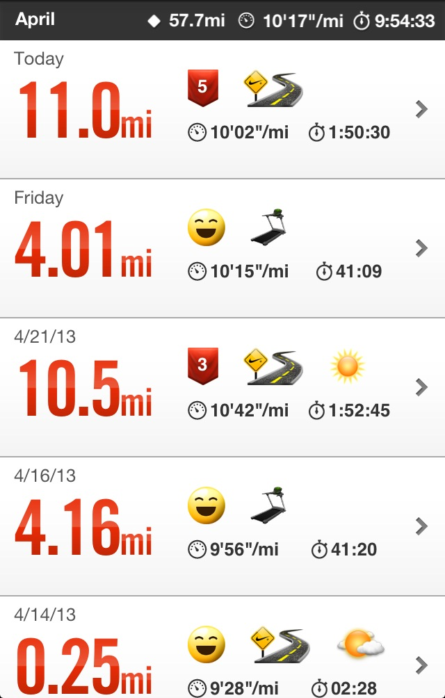Nike+ Running Long Runs