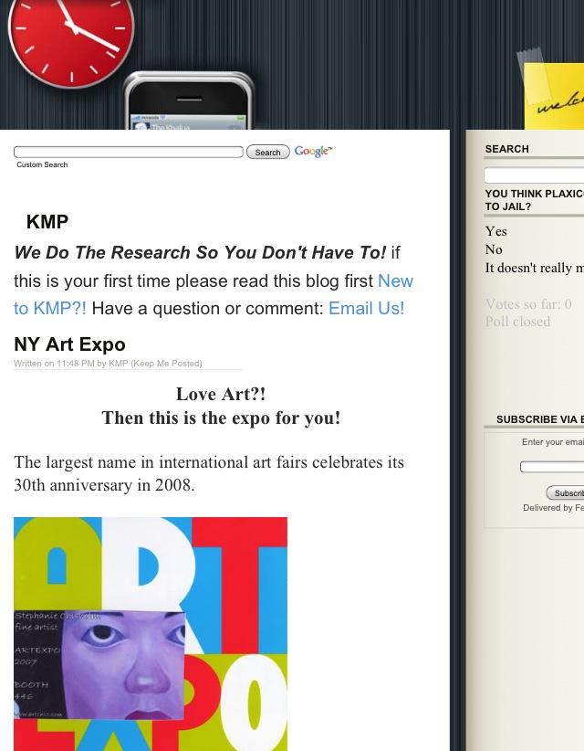first kmp blog layout
