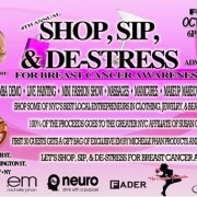 Shop, Sip and De-Stress – 4th Annual Breast Cancer Awareness Event