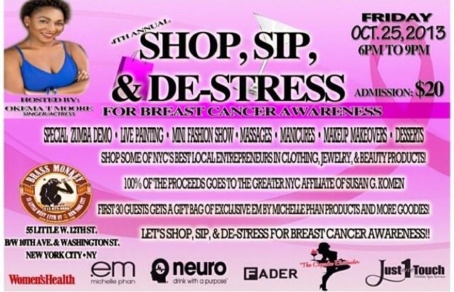 shop sip and de-stress