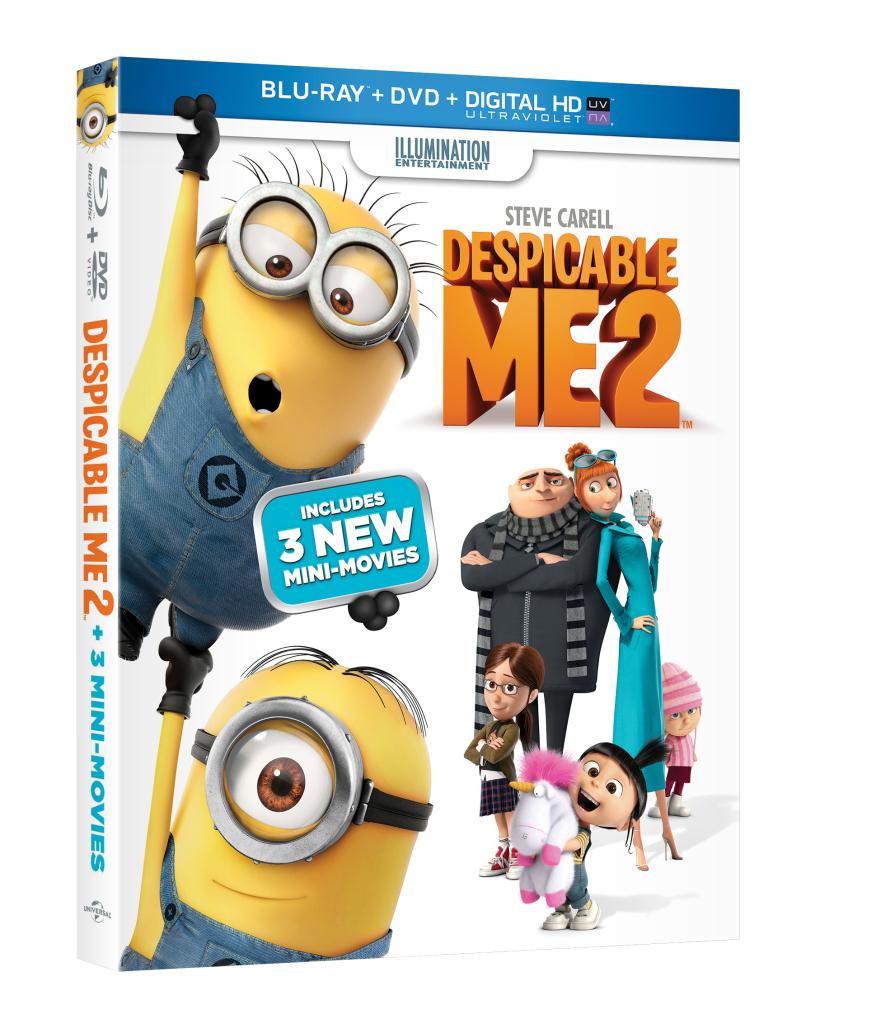 Despicable Me 2 DVD cover