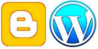 Blogger and wordpress logo