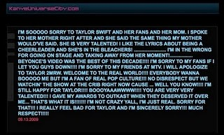 Kanye's Apology to Taylor Swift
